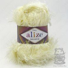 Пряжа Decofur Ализе, цвет № 01 (Молочный)