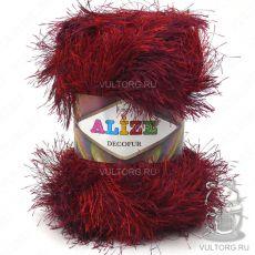 Пряжа Alize Decofur, цвет № 1373 (Красный меланж)