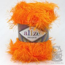 Пряжа Decofur Ализе, цвет № 654 (Оранжевый неон)