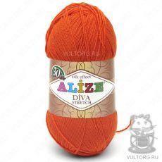 Пряжа Alize Diva Stretch, цвет № 407 (Оранжевый)