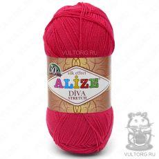 Пряжа Alize Diva Stretch, цвет № 396 (Мак)