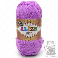 Пряжа Alize Diva Stretch, цвет № 378 (Орхидея)