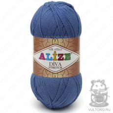 Пряжа Alize Diva Stretch, цвет № 353 (Темно-голубой)