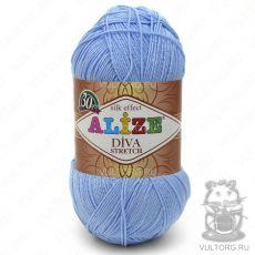 Пряжа Diva Stretch Ализе, цвет № 350 (Голубой)