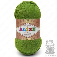 Пряжа Alize Diva Stretch, цвет № 210 (Зелёный)