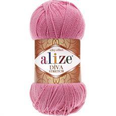 Пряжа Alize Diva Stretch, цвет № 178 (Темно-розовый)