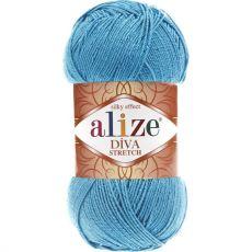 Пряжа Alize Diva Stretch, цвет № 245 (Голубой сочи)