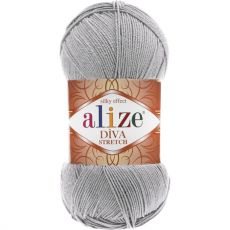 Пряжа Alize Diva Stretch, цвет № 253 (Серебро)