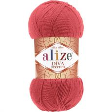 Пряжа Alize Diva Stretch, цвет № 254 (Гранатовый)
