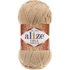 Пряжа Alize Diva Stretch, цвет № 368 (Светло-бежевый)