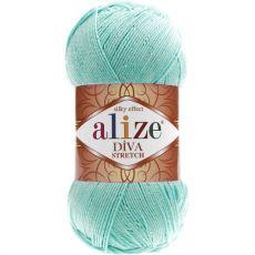Пряжа Alize Diva Stretch, цвет № 376 (Бирюзовый)