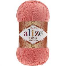 Пряжа Alize Diva Stretch, цвет № 619 (Коралловый)