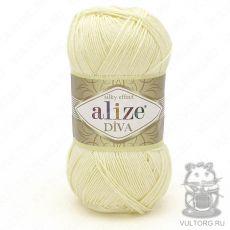 Пряжа Alize Diva, цвет № 01 (Кремовый)