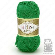 Пряжа Diva Ализе, цвет № 123 (Изумруд)