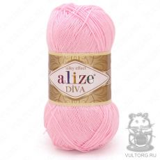 Пряжа Alize Diva, цвет № 185 (Светло-розовый)