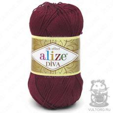 Пряжа Diva Ализе, цвет № 57 (Бордовый)