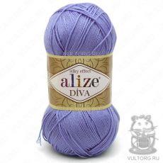 Пряжа Diva Ализе, цвет № 347 (Голубой)