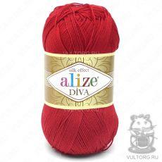 Пряжа Diva Ализе, цвет № 106 (Красный)