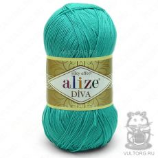Пряжа Diva Ализе, цвет № 610 (Нефрит)