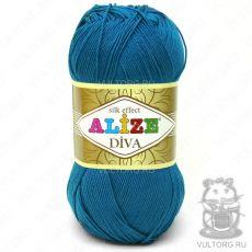 Пряжа Diva Ализе, цвет № 646 (Бирюзовый)