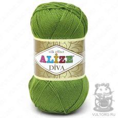 Пряжа Diva Ализе, цвет № 210 (Зелёный)