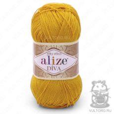 Пряжа Diva Ализе, цвет № 488 (Жёлтый)