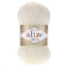 Пряжа Alize Diva, цвет № 62 (Молочный)