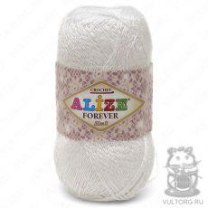 Пряжа Alize Forever Simli, цвет № 55 (Белый)