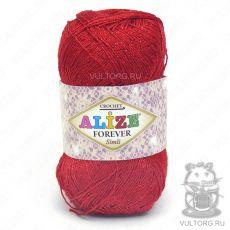 Пряжа Alize Forever Simli, цвет № 106 (Красный)