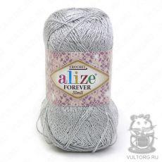 Пряжа Alize Forever Simli, цвет № 52 (Светло-серый)