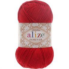 Пряжа Forever Ализе, цвет № 106 (Красный)