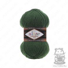 Пряжа Alize Lanagold Fine, цвет № 118 (Темно-зеленый)