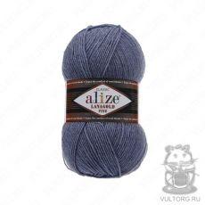 Пряжа Alize Lanagold Fine, цвет № 203 (Джинс меланж)