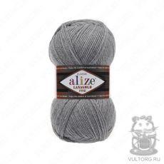 Пряжа Alize Lanagold Fine, цвет № 21 (Серый меланж)