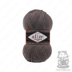 Пряжа Alize Lanagold Fine, цвет № 240 (Коричневый меланж)