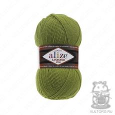Пряжа Alize Lanagold Fine, цвет № 485 (Зеленая черепаха)