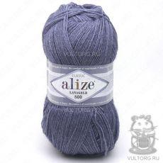 Пряжа Alize Lanagold 800, цвет № 203 (Джинс меланж)