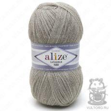 Пряжа Lanagold 800 Ализе, цвет № 207 (Светло-коричневый меланж)