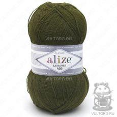 Пряжа Lanagold 800 Ализе, цвет № 214 (Оливковый зелёный)
