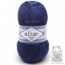 Пряжа Alize Lanagold 800, цвет № 215 (Черника)