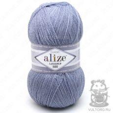 Пряжа Lanagold 800 Ализе, цвет № 221 (Светлый джинс)