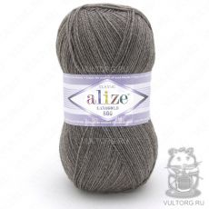 Пряжа Alize Lanagold 800, цвет № 240 (Светло-коричневый меланж)