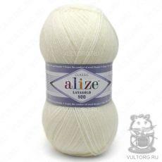 Пряжа Lanagold 800 Ализе, цвет № 62 (Молочный)