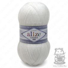 Пряжа Lanagold 800 Ализе, цвет № 55 (Белый)