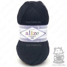 Пряжа Lanagold 800 Ализе, цвет № 60 (Чёрный)