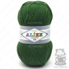 Пряжа Alize Lanagold 800, цвет № 118 (Зелёная трава)