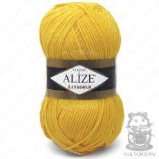 Пряжа Lanagold Ализе, цвет № 216 (Жёлтый)