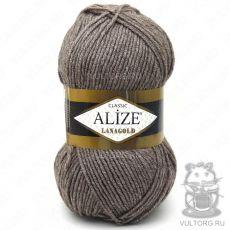Пряжа Lanagold Ализе, цвет № 240 (Коричневый меланж)