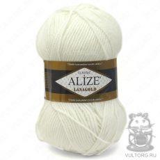 Пряжа Lanagold Ализе, цвет № 55 (Белый)