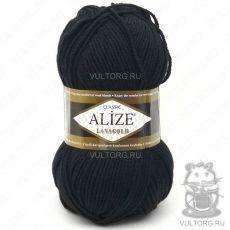Пряжа Lanagold Ализе, цвет № 60 (Чёрный)